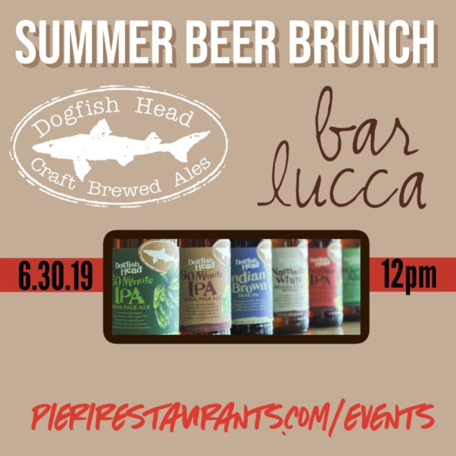 Beer Brunch with Dogfish Head Brewing